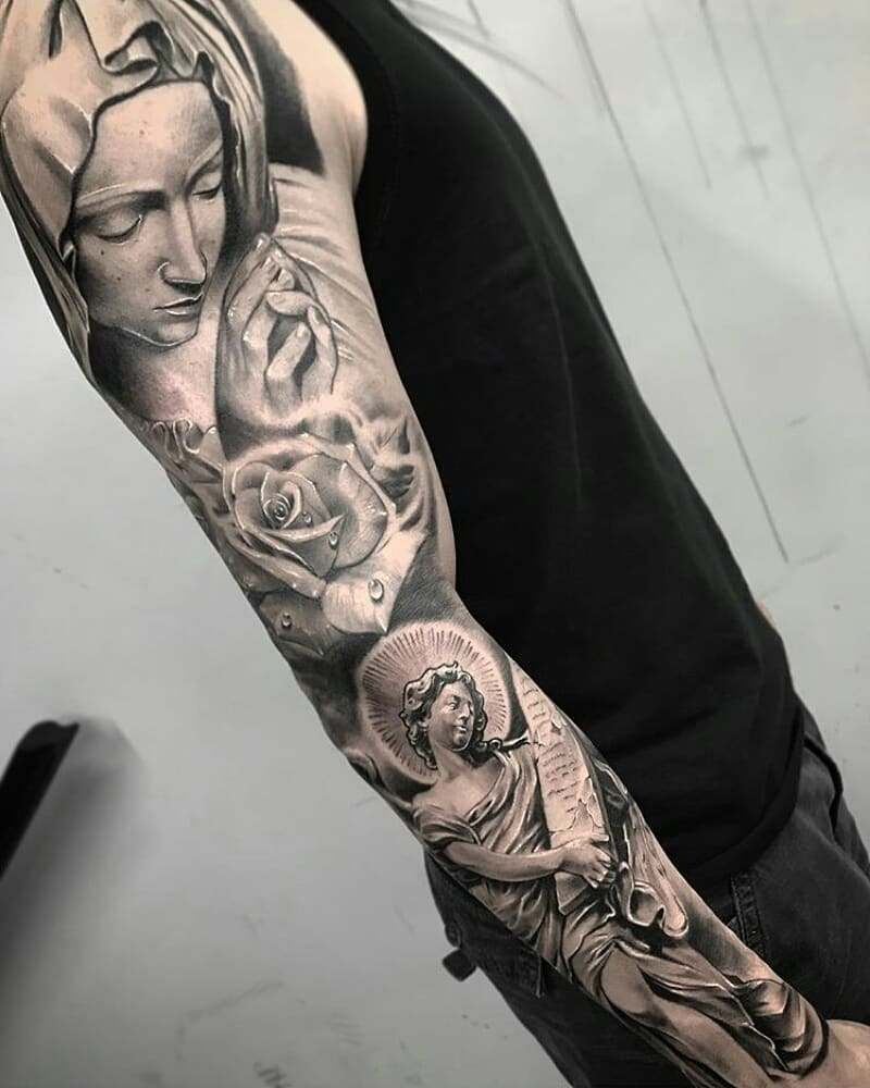 Mann arm kreuz tattoo Tattoo Ideen