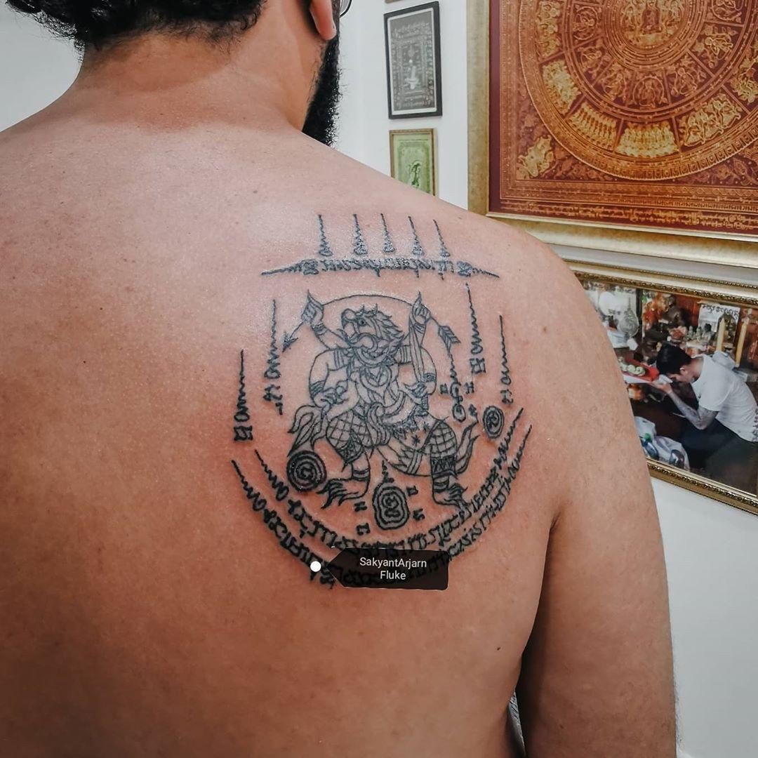 Kraft tattoo symbol stärke für und Yung Leans